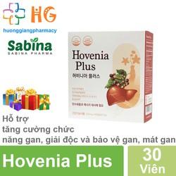 Hovenia Plus - Hỗ trợ tăng cường chức năng gan, giải độc và bảo vệ gan, thanh nhiệt, mát gan, giải rượu (Hộp 30 Viên)