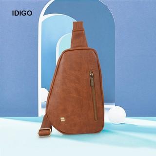 Túi đeo chéo trước ngực nam chi tiết khoá kéo IDIGO MB2-3364-00 - MB2-3364-00 thumbnail
