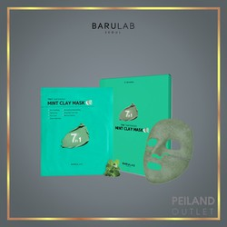 Mặt Nạ Bùn Khoáng Bạc Hà BARULAB 7 In 1 Total Solution Mint Clay Mask (Hộp 5 Miếng)