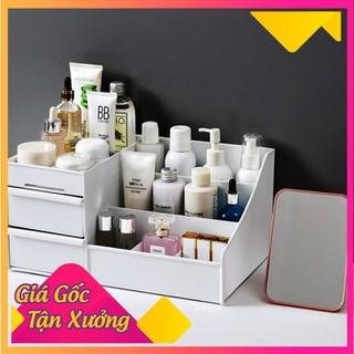 Kệ đựng mỹ phẩm 3 tầng 2 ngăn kéo, hộp đựng đồ trang điểm, makeup bằng nhựa cao cấp - Kệ đựng mỹ phẩm - KDMP2NK-1 thumbnail