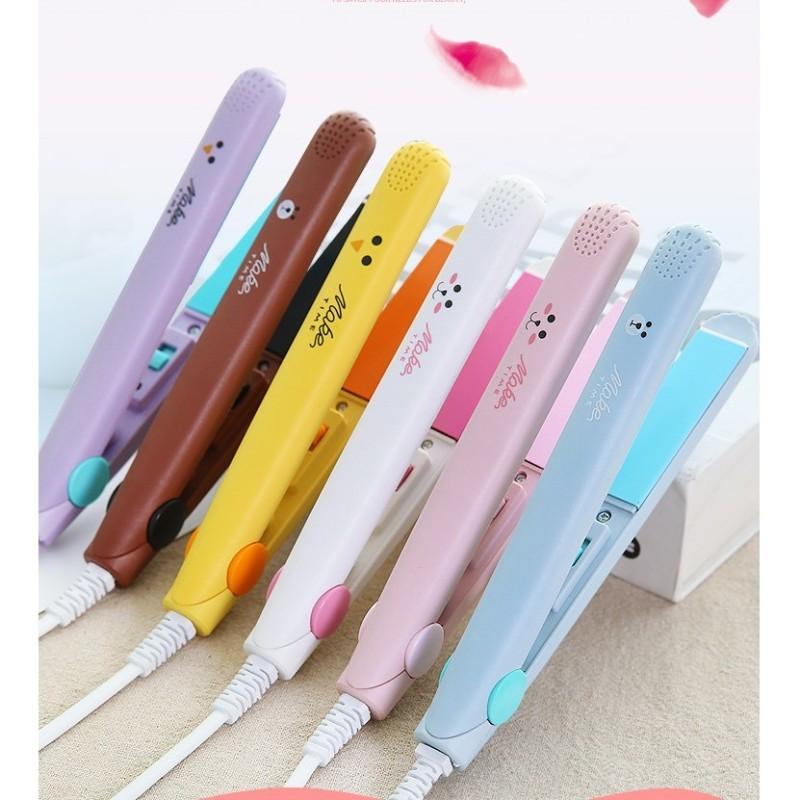 Máy uốn duỗi tóc mini hàng loại 1 gọn nhẹ tiện lợi mang đi chơi đi làm - máy uốn tóc mini nhập khẩu