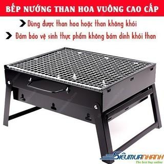 [ free ship ] BẾP NƯỚNG THAN HOA VUÔNG CAO CẤP - 555735 thumbnail