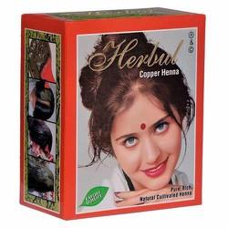 Thuốc nhuộm tóc thảo dược màu vàng đồng Herbul Copper Henna (Ấn Độ) 6 gói/ hộp