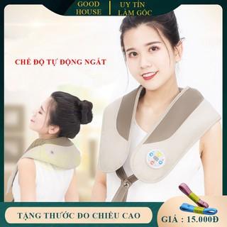 Đai massage thư giãn cao cấp, massage vật lý tr-ị liệu đốt sống cổ lưng vai gáy, giảm đau mỏi vai gáy, cổ và lưng ( Bảo hành 1 năm lỗi 1 đổi 1 trong 7 ngày ) - MSV1 thumbnail