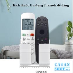 Giá đỡ dán tường treo remote máy lạnh đa năng, kệ treo sạc điện thoại, đầu dây điện tiện lợi giúp không gian gọn gàng GD448-ketreoDT