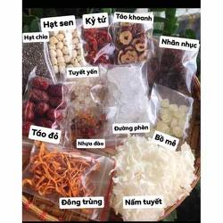 Nguyên liệu nấu chè dường nhan ( chè tuyêt yến nhựa đào ) sét 400gram