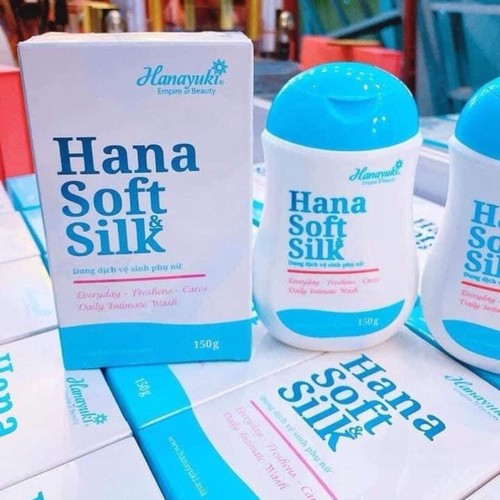1chai dung dịch vệ sinh phụ nữ hana soft loại 150g - hana