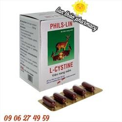 L-cystine Phils lin 500mg hộp 60 viên hỗ trợ đẹp da tóc móng hiệu quả