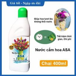 Nước cắm hoa ASA giúp hoa tươi lâu không thối nước chai 400ml