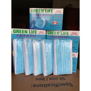 Khẩu Trang Y Tế Kháng Khuẩn GreenLife - 1 hộp 50 chiếc - KTYT 2
