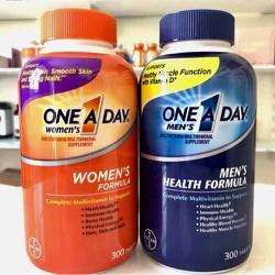 Vitamin tổng hợp One A Day dưới 50 tuôi - One A Day Complete Multivitamin For Men's & For Women's 300 viên của Mỹ