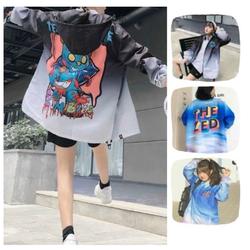Áo Khoác Dù in hình Zombie jacket dành cho Nam Nữ có 2 màu Form Rộng Ulzzang THE ZED