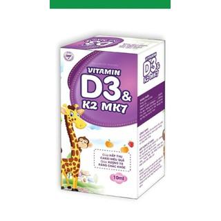 Vitamin D3 K2 Mk7 nhỏ giot giúp bé hấp thụ calci tăng trưởng chiều cao cân nặng tăng sức đề kháng hộp 10ml đức anh center - Vitamin D3 K2 Mk7 nhỏ giot thumbnail
