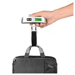 CÂN ĐIỆN TỬ CẦM TAY 50kg,có ruy băng, Màn hình kỹ thuật số có đèn nền màu xanh lá cây, Cân, đọc rõ những số lẻ, hiển thị đơn vị chuyển đổi, nhiệt độ chuyển đổi, nhắc nhở thừa cân , nhắc nhở pin yếu