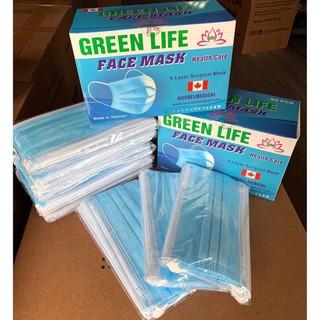 Khẩu Trang Y Tế Kháng Khuẩn GreenLife - 1 hộp 50 chiếc - KTYT thumbnail