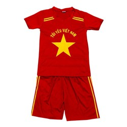 bộ đồ thể thao Tôi Yêu Việt Nam dành cho bé trai và bé gái từ 7-34 kg
