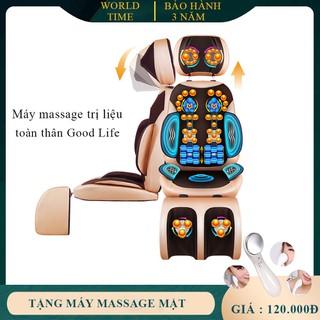 Ghế massage, ghế mát xa toàn thân, ghế mát xa hồng ngoại tr-ị liệu Good Life dạng ghế ngồi cao cấp massage thông minh giúp thư giãn an toàn cho sức khoẻ mọi người ( Bảo hành 2 năm lỗi 1 đổi 1 trong 7 ngày ) - GHEMS thumbnail