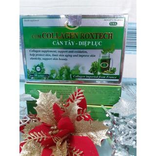 Viên uống Collagen diệp lục cần tây giúp đẹp da chống lão hóa hộp 30 gói - can tay thumbnail
