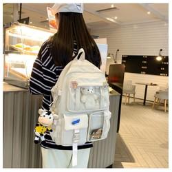 Ba lô học sinh nữ phong cách Hàn Quốc mẫu mới Full phụ kiện như hình BL0002