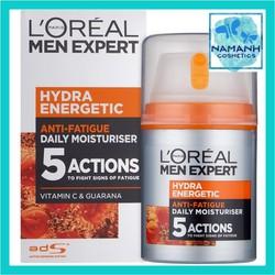 Kem dưỡng ẩm 5 tác động làm sáng da LOreal Men Expert Hydra Energetic Moisturiser