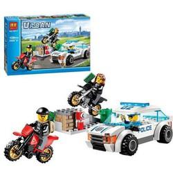 [Giá hủy diệt] Lắp ráp xếp hình Lego City 60042 Bela 10417: Xe Chase cảnh sát tốc độ cao 128 mảnh