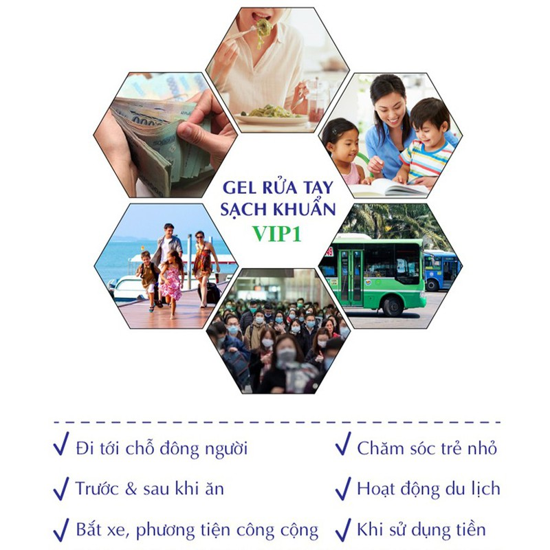 Gel Rửa Tay Khô Kháng Khuẩn VIP1 450ml - Tặng kèm Gel VIP1 100ml - GRT101 5