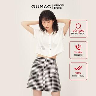 Chân váy nữ caro form A lưng liền GUMAC VB326 - VB326 thumbnail