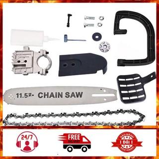 lưỡi cưa xích - Bộ Lưỡi Cưa Xích Gắn Máy Cắt Mài Cầm Tay Chain Saw 11.5 Inch - SP00292 thumbnail