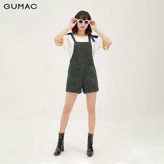 Quần yếm nữ lật lai có túi form rộng GUMAC QB3128 - QB3128 thumbnail