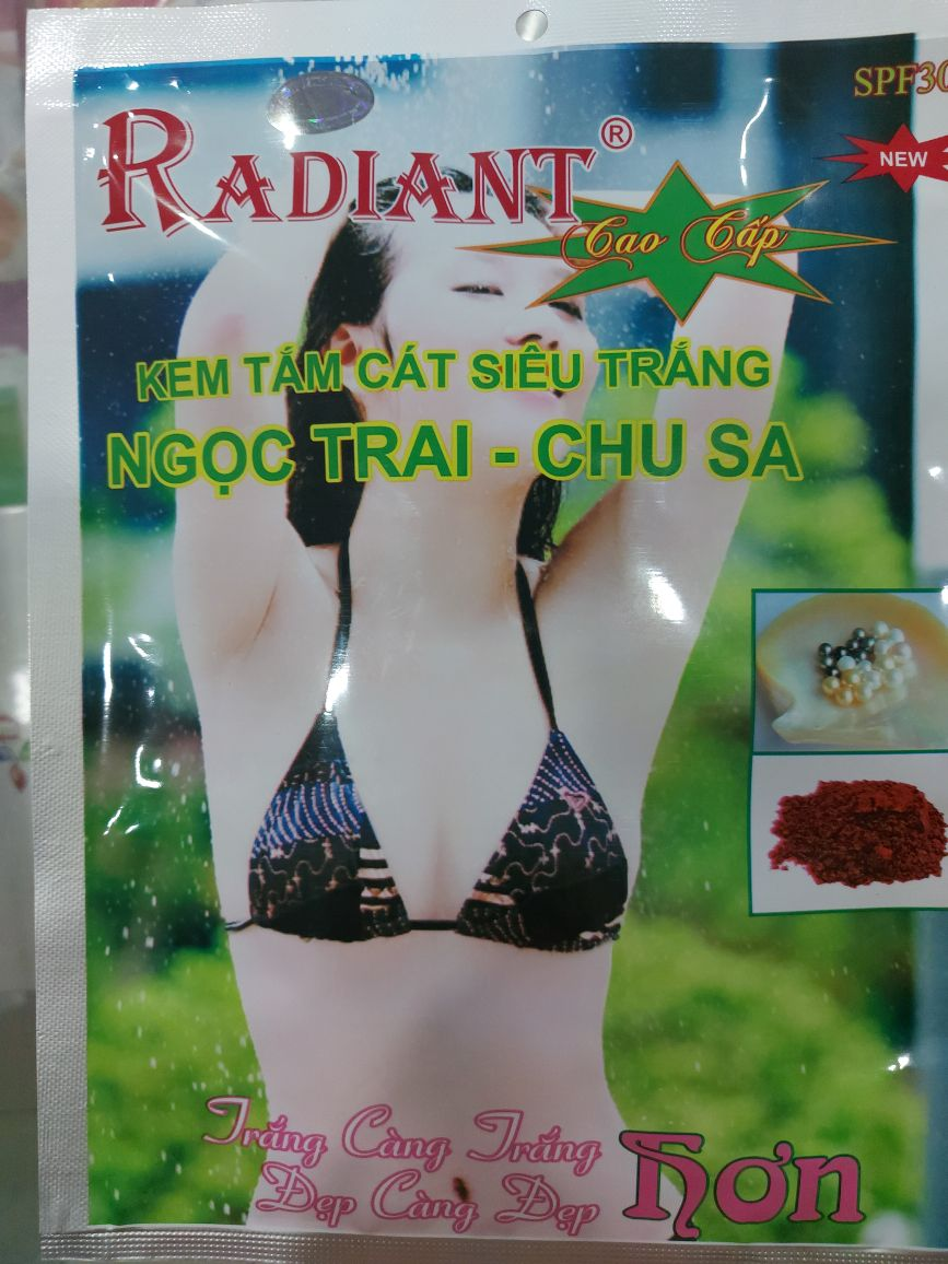 Kem Tắm Cát Siêu Trắng Ngọc Trai Chu Sa Radiant - Chusa