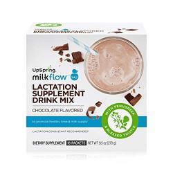Trà lợi sữa Upspring Milkflow Fenugreek + Blessed Thistle (vị dâu và socola)