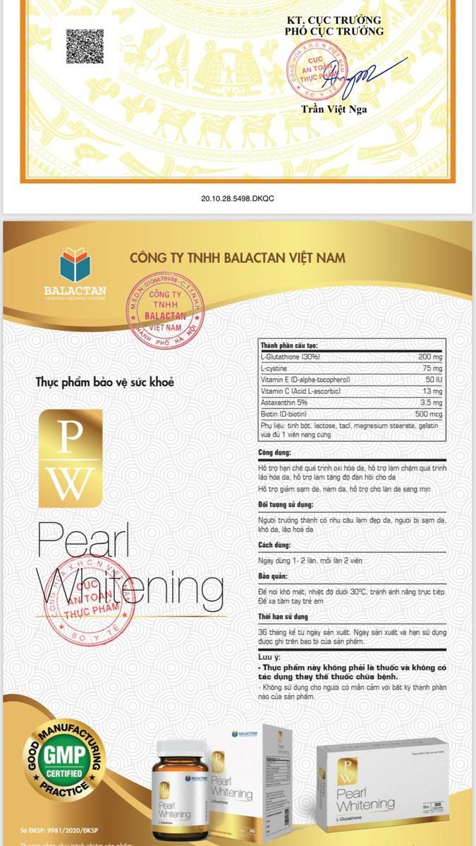 Viên Uống Trắng Da Toàn Thân Pearl Whitening - Pearl Whitening 6