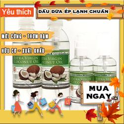 Dầu dừa ép lạnh, dầu dừa nguyên chất 100% Green Garden dưỡng mi, dưỡng tóc spa quê một cục