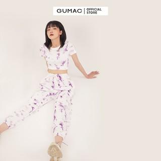 Quần thun nữ loang màu bo chun GUMAC QB302 [ĐƯỢC KIỂM HÀNG] 41512661 - 41512661 thumbnail