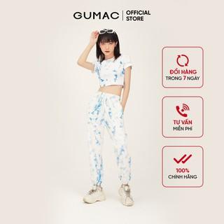 Quần thun nữ loang màu bo chun GUMAC QB302 - QB302 thumbnail