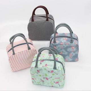Túi đựng hộp cơm văn phòng giữ nhiệt có khóa kéo họa tiết bắt mắt - HĐ331 thumbnail
