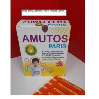 SIRO tăng đề kháng cho bé AMUTOS Paris - Bổ sung Thymomodulin, Taurin, kẽm, vitamin - tăng cường sức đề kháng - giảm nguy cơ mắc bệnh hô hấp, mũi, họng cho bé - Hộp 20 ống 10ml - Chuẩn GMP Bộ y tế - AMUTOS - PR thumbnail