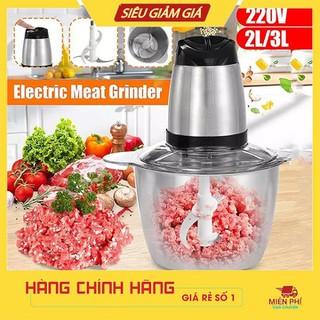 Máy Xay Thịt Cối Inox 4 Lưỡi Đa Năng, Công suất 600W Siêu Mạnh- Xay thịt, xay tỏi ới, xay rau củ quả - MÁY XAY THỊT SOKANY 3L - 1 - 0323 thumbnail