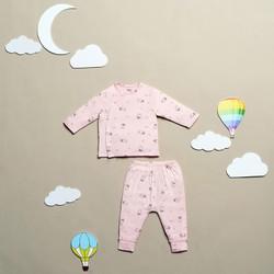Bộ quần áo trẻ em sơ sinh ZoseKids ABB018 hồng in thỏ chất liệu sợi tre Bamboo tự nhiên an toàn, mềm mại, thoáng mát