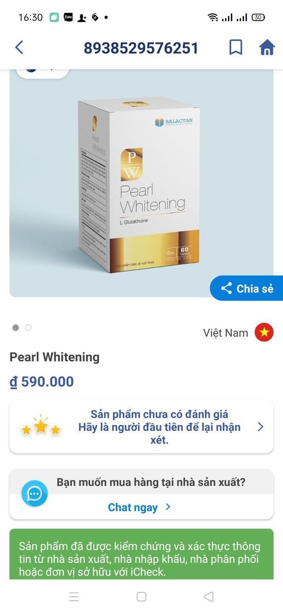 Viên Uống Trắng Da Toàn Thân Pearl Whitening - Pearl Whitening 1