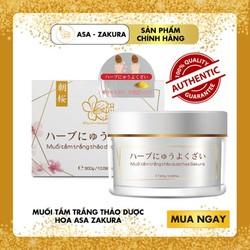 [HOT SALE] Muối tắm trắng thảo dược Asa Zakura - mang đến một làn da sáng bóng, trắng mịn hồng hào