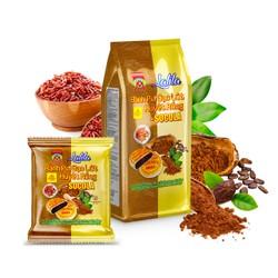 LaLiLa _ 360g 4 Bánh pía CHAY gạo huyết rồng SOCOLA tươi, KHÔNG CÓ trứng muối & SẦU RIÊNG, có Vitamin nhóm B tốt trí nhớ, CHẤT XƠ lợi tiêu hóa