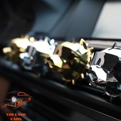 Nước hoa đầu chó Bull kẹp cửa gió điều hòa xe hơi ô tô kèm sáp thơm và hộp sang trọng dùng làm quà tặng cao cấp [ĐƯỢC KIỂM HÀNG]