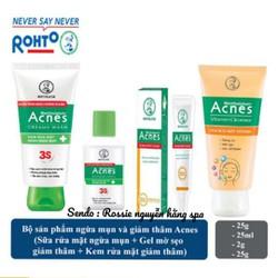 Bộ Acnes 4 sản phẩm chăm sóc da trước và sau mụn : sữa rửa mặt Acnes tri mụn & dung dịch acnes & Gel sáng thâm mờ sẹo Acnes & sữa rửa mặt Acnes vitamin sáng thâm mờ sẹo