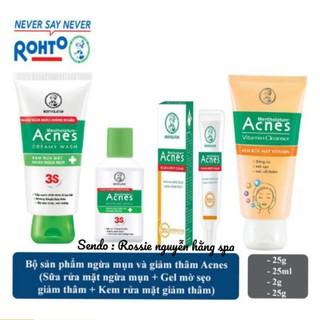 Bộ Acnes 4 sản phẩm chăm sóc da trước và sau mụn sữa rửa mặt Acnes tri mụn & dung dịch acnes & Gel sáng thâm mờ sẹo Acnes & sữa rửa mặt Acnes vitamin sáng thâm mờ sẹo - 1892 thumbnail