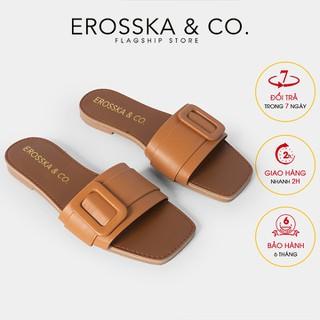 Dép nữ Erosska thời trang quai ngang đi nh kho a siêu mê m êm chân ma u bo - DC005 - DC005BR thumbnail