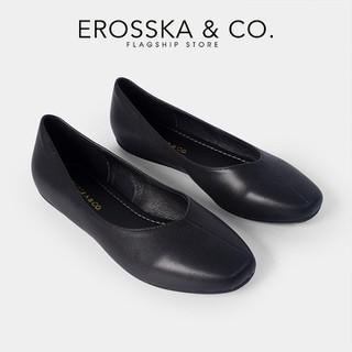 Giày búp bê Erosska thời trang mũi bầu kiểu dáng trơn đơn giản màu đen _ ef010 - ef010BA thumbnail
