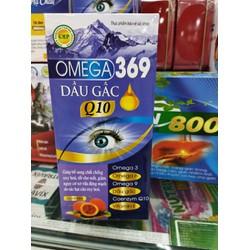 Viên uống bổ mắt O.MEGA 3.6.9 DẦU GẤC Q10 - Giúp sáng mắt , giảm khô mắt , nhức mỏi mắt , tăng cường thị lực cho mắt - hộp 60 viên - hàng công ty đạt chuẩn GMP -HD 2024