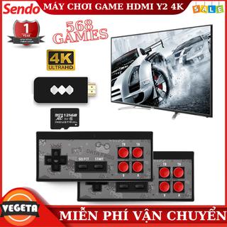 Máy Chơi Game HDMI Y2 Plus 4K Tặng 2 Tay Cầm Không Dây, Tích Hợp Gần 600 Game Khủng - MCG Y2 4K 568Game thumbnail