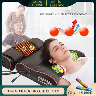 Gối massage hồng ngoại 16 bi, massage tr-ị liệu cổ, vai ,gáy, cột sống lưng chất liệu da, vải chống thấm nước ( Bảo hành 2 năm lỗi 1 đổi 1 trong 7 ngày ) - GOIMS16 thumbnail